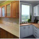 перекраска кухонного гарнитура интерьер идеи