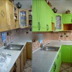 перекраска кухонного гарнитура фото оформления