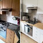 перекраска кухонного гарнитура фото вариантов