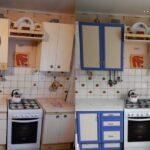 перекраска кухонного гарнитура идеи варианты