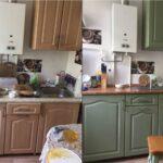 перекраска кухонного гарнитура идеи виды