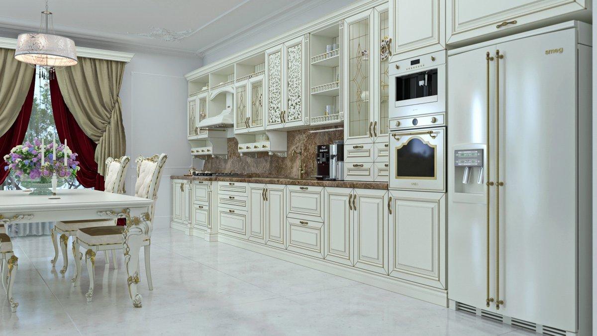пол классического стиля кухни
