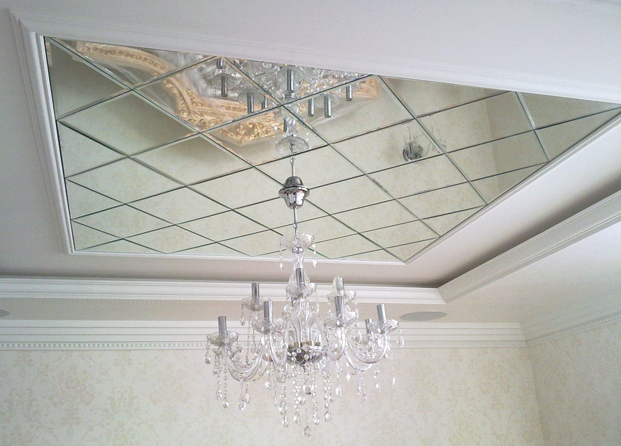 потолочная плитка зеркальная