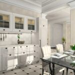 современная классическая кухня 45