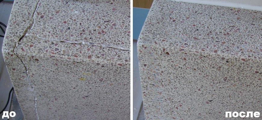 ремонт трещин на столешнице
