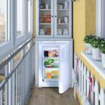 установка холодильника на балконе